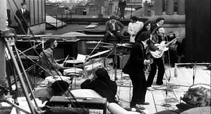 Les Beatles lors de leur dernier concert public - Les 10 meilleures photographies de l'histoire de la musique