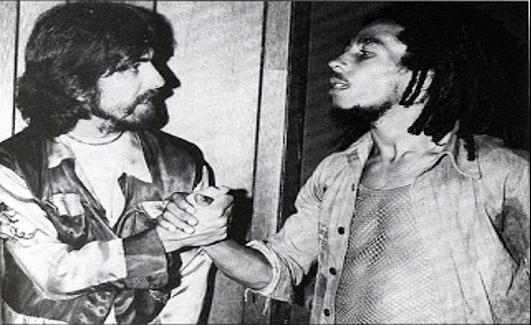 George Harrison y Bob Marley - Mejores Fotografías de la Historia de la Música